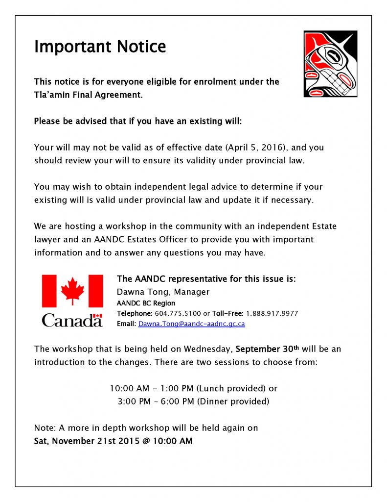 Wills & Estates Notice