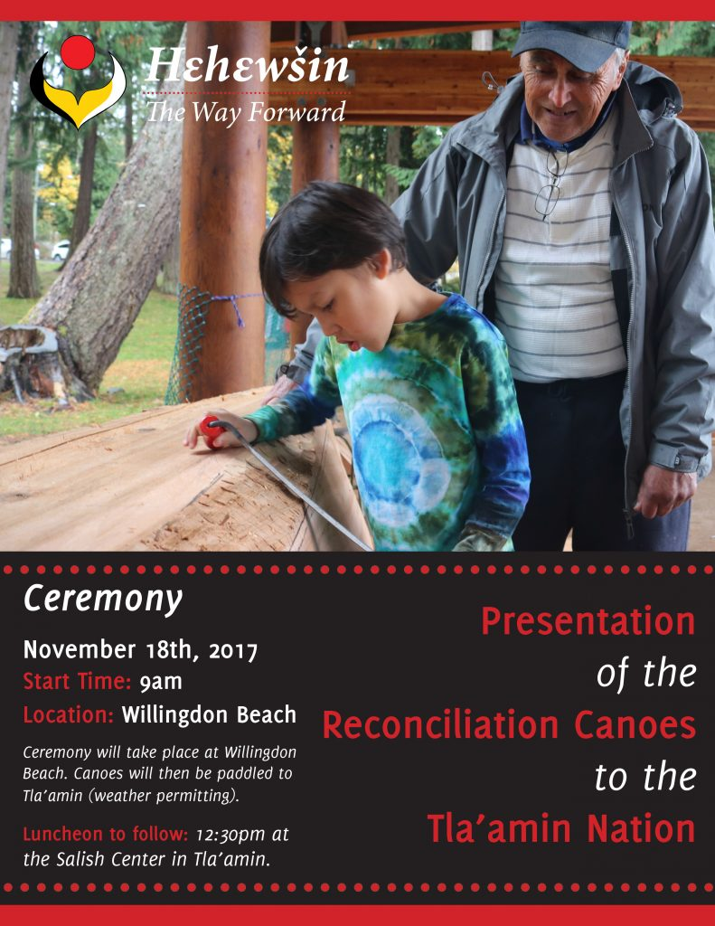 Canoe Presentation Ceremony Flyer