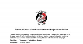Traditional Wellness Coordinator 2019